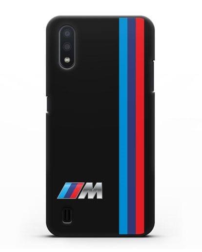 Чехол BMW M Perfomance силикон черный для Samsung Galaxy A01 [SM-A015F]
