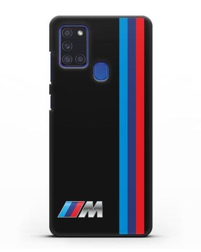 Чехол BMW M Perfomance силикон черный для Samsung Galaxy A21s [SM-A217F]