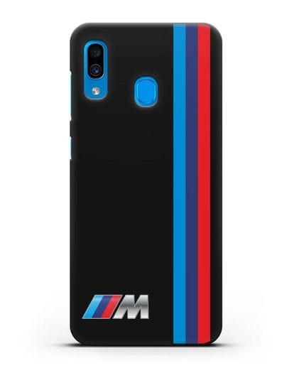 Чехол BMW M Perfomance силикон черный для Samsung Galaxy A30 [SM-A305FN]