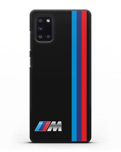 Чехол BMW M Perfomance силикон черный для Samsung Galaxy A31 [SM-A315F]