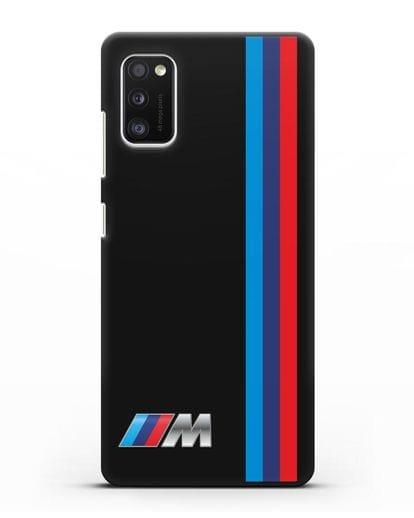 Чехол BMW M Perfomance силикон черный для Samsung Galaxy A41 [SM-A415F]