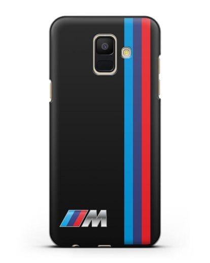 Чехол BMW M Perfomance силикон черный для Samsung Galaxy A6 2018 [SM-A600F]