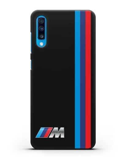 Чехол BMW M Perfomance силикон черный для Samsung Galaxy A70 [SM-A705F]