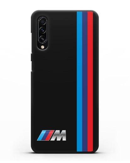 Чехол BMW M Perfomance силикон черный для Samsung Galaxy A70s [SM-A707F]