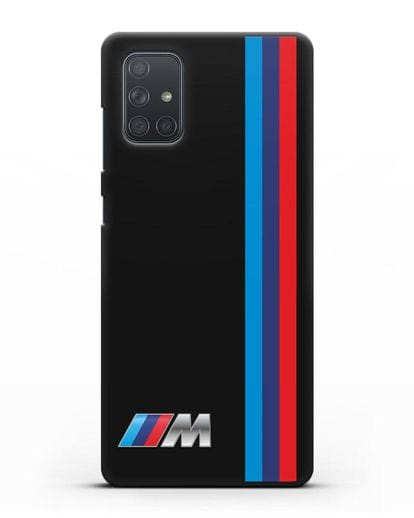 Чехол BMW M Perfomance силикон черный для Samsung Galaxy A71 [SM-A715F]