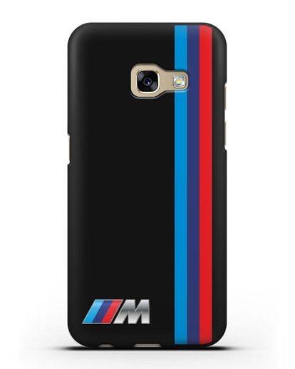 Чехол BMW M Perfomance силикон черный для Samsung Galaxy A7 2017 [SM-A720F]