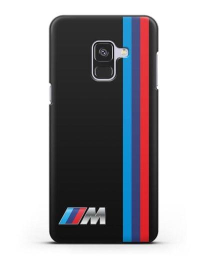 Чехол BMW M Perfomance силикон черный для Samsung Galaxy A8 Plus [SM-A730F]
