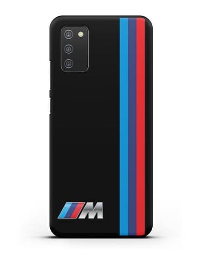 Чехол BMW M Perfomance силикон черный для Samsung Galaxy A02s [SM-A025F]
