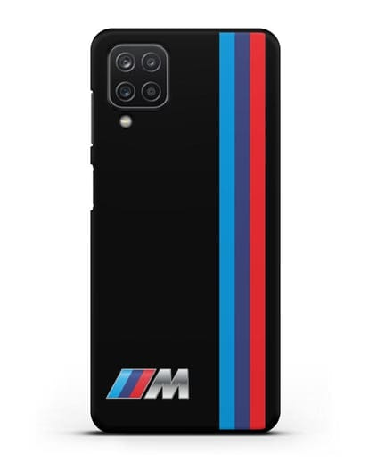 Чехол BMW M Perfomance силикон черный для Samsung Galaxy A12 [SM-A125F]