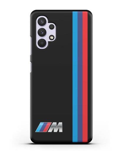 Чехол BMW M Perfomance силикон черный для Samsung Galaxy A32 4G [SM-A325F]