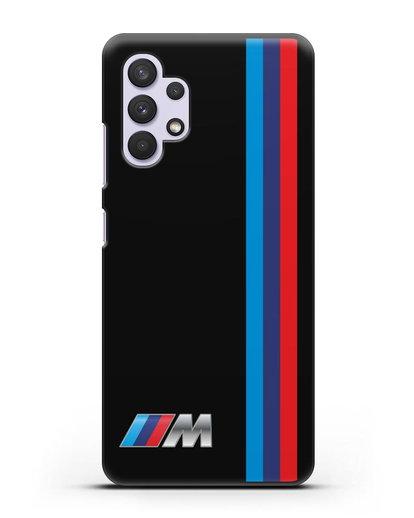 Чехол BMW M Perfomance силикон черный для Samsung Galaxy A32 5G [SM-A326B]