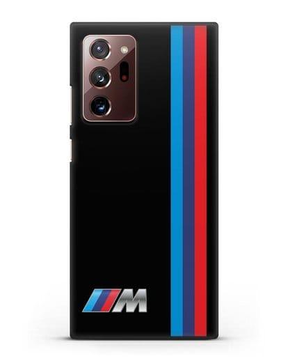 Чехол BMW M Perfomance силикон черный для Samsung Galaxy Note 20 Ultra [SM-N985F]