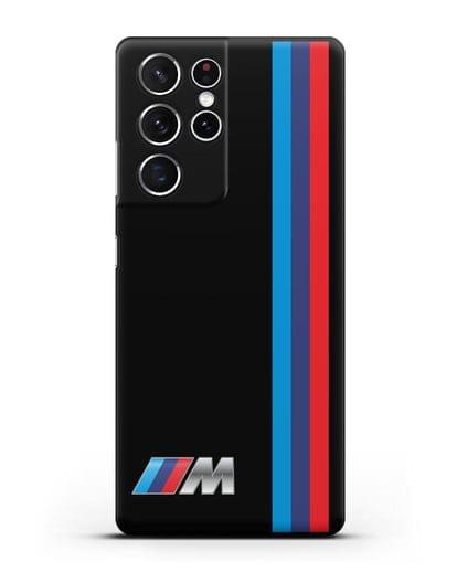 Чехол BMW M Perfomance силикон черный для Samsung Galaxy S21 Ultra [SM-G998B]