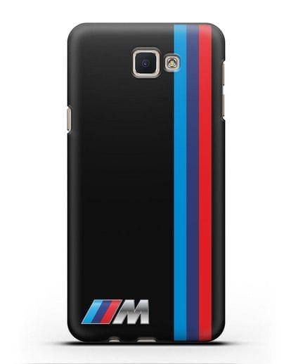 Чехол BMW M Perfomance силикон черный для Samsung Galaxy J5 Prime [SM-G570]