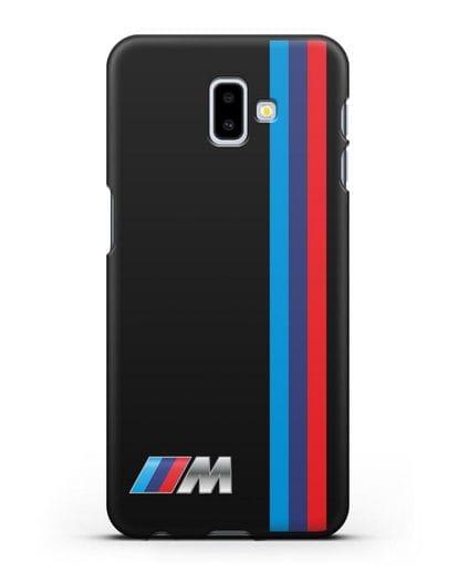 Чехол BMW M Perfomance силикон черный для Samsung Galaxy J6 Plus [SM-J610F]
