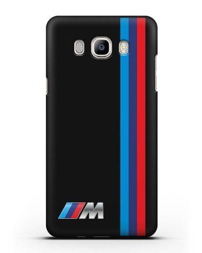 Чехол BMW M Perfomance силикон черный для Samsung Galaxy J7 2016 [SM-J710F]