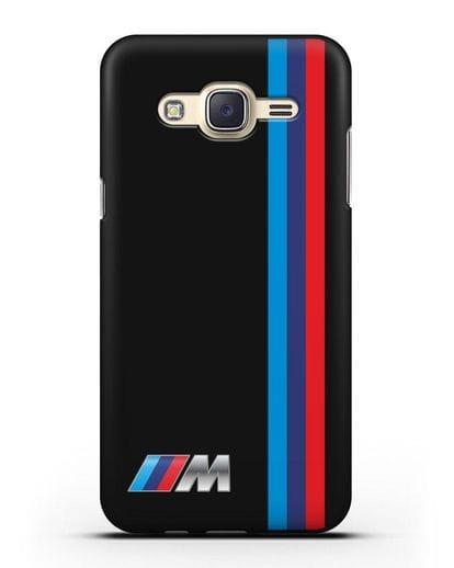 Чехол BMW M Perfomance силикон черный для Samsung Galaxy J7 Neo [SM-J701F]