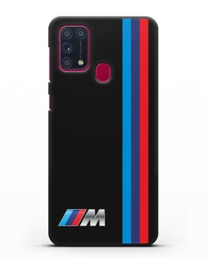 Чехол BMW M Perfomance силикон черный для Samsung Galaxy M31 [SM-M315F]