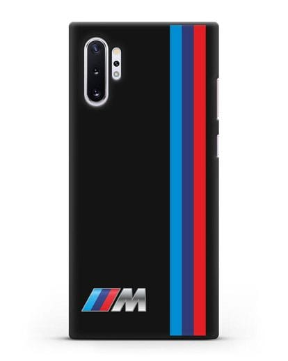 Чехол BMW M Perfomance силикон черный для Samsung Galaxy Note 10 Plus [N975F]