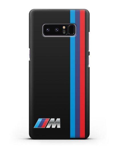 Чехол BMW M Perfomance силикон черный для Samsung Galaxy Note 8 [N950F]