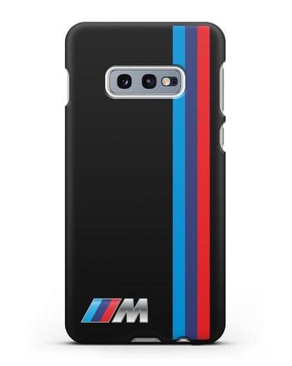 Чехол BMW M Perfomance силикон черный для Samsung Galaxy S10e [SM-G970F]