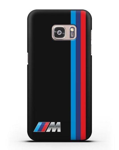 Чехол BMW M Perfomance силикон черный для Samsung Galaxy S7 Edge [SM-G935F]