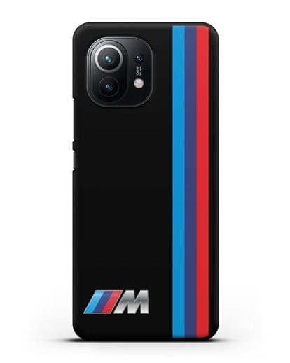 Чехол BMW M Perfomance силикон черный для Xiaomi Mi 11