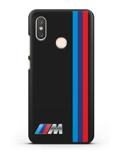 Чехол BMW M Perfomance силикон черный для Xiaomi Mi 8