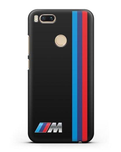 Чехол BMW M Perfomance силикон черный для Xiaomi Mi A1
