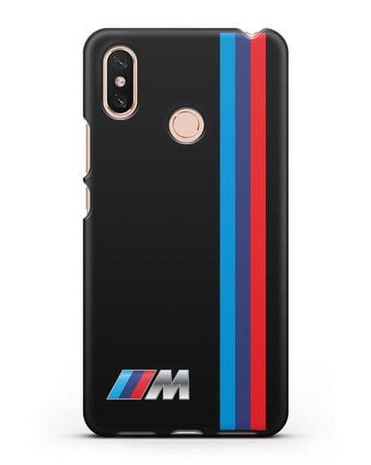Чехол BMW M Perfomance силикон черный для Xiaomi Mi Max 3