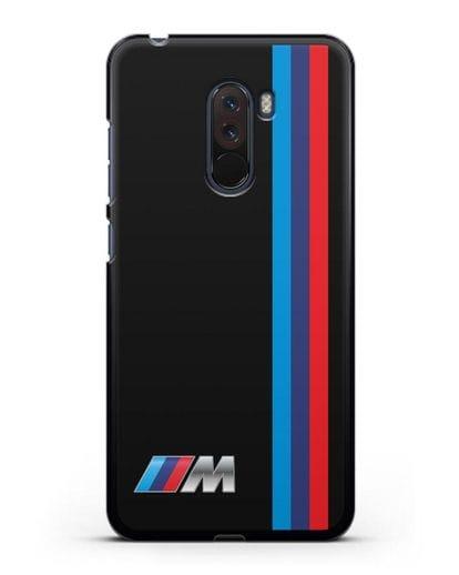 Чехол BMW M Perfomance силикон черный для Xiaomi Pocophone F1