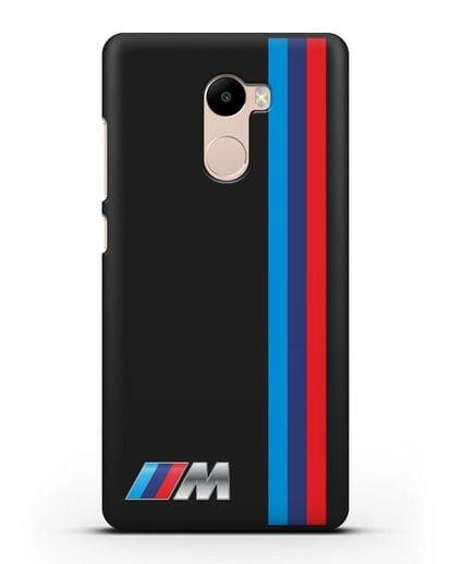 Чехол BMW M Perfomance силикон черный для Xiaomi Redmi 4
