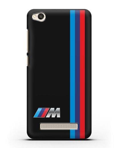 Чехол BMW M Perfomance силикон черный для Xiaomi Redmi 4A