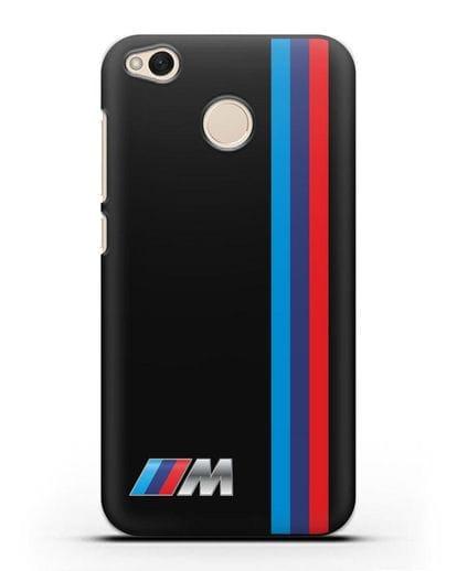 Чехол BMW M Perfomance силикон черный для Xiaomi Redmi 4X