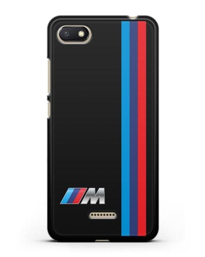 Чехол BMW M Perfomance силикон черный для Xiaomi Redmi 6A