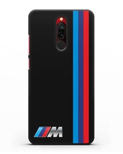 Чехол BMW M Perfomance силикон черный для Xiaomi Redmi 8
