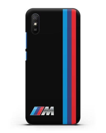 Чехол BMW M Perfomance силикон черный для Xiaomi Redmi 9A