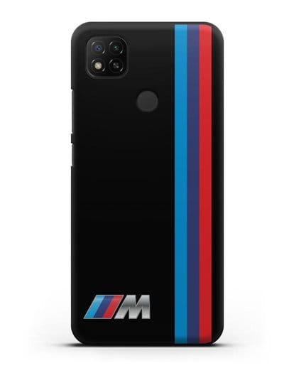 Чехол BMW M Perfomance силикон черный для Xiaomi Redmi 9С