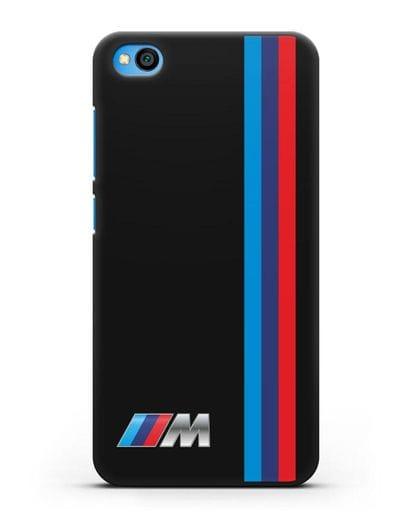 Чехол BMW M Perfomance силикон черный для Xiaomi Redmi Go