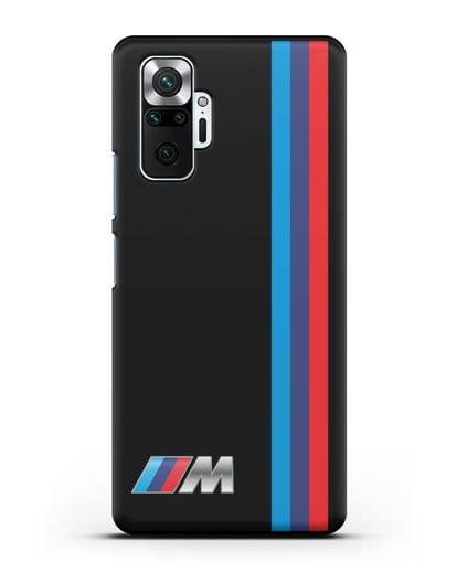 Чехол BMW M Perfomance силикон черный для Xiaomi Redmi Note 10 Pro
