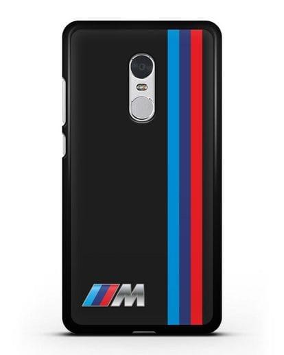 Чехол BMW M Perfomance силикон черный для Xiaomi Redmi Note 4