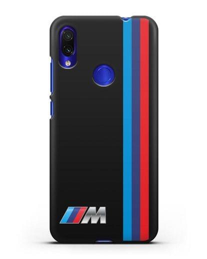 Чехол BMW M Perfomance силикон черный для Xiaomi Redmi Note 7