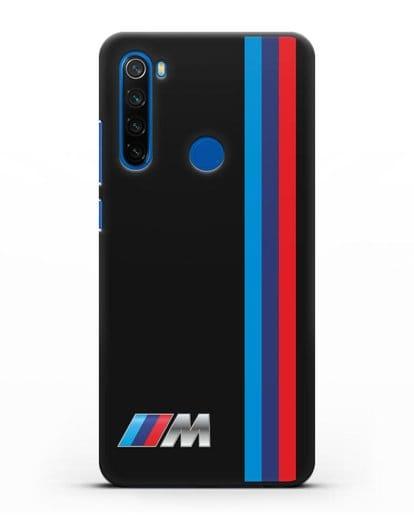 Чехол BMW M Perfomance силикон черный для Xiaomi Redmi Note 8