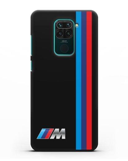 Чехол BMW M Perfomance силикон черный для Xiaomi Redmi Note 9