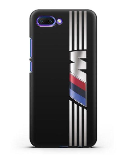 Чехол с символикой BMW M серия силикон черный для Honor 10