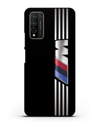 Чехол с символикой BMW M серия силикон черный для Honor 10X Lite