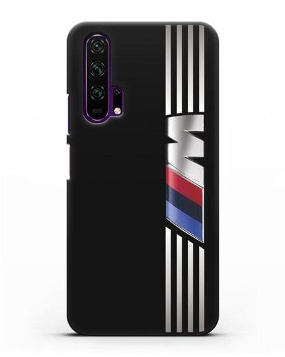 Чехол с символикой BMW M серия силикон черный для Honor 20 Pro