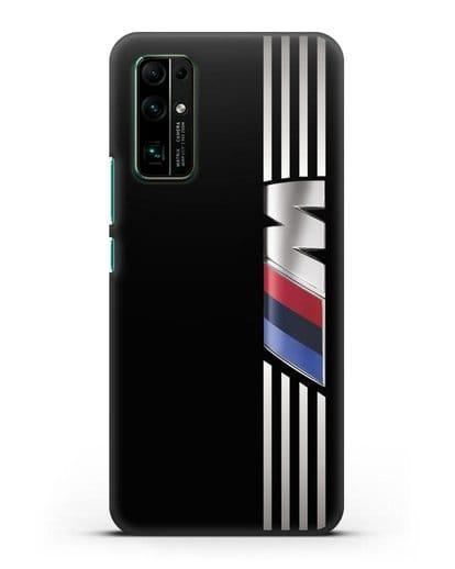 Чехол с символикой BMW M серия силикон черный для Honor 30