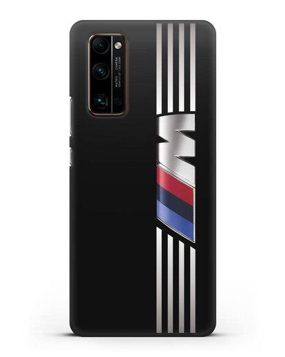 Чехол с символикой BMW M серия силикон черный для Honor 30 Pro