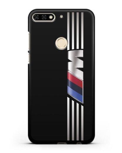Чехол с символикой BMW M серия силикон черный для Honor 7C